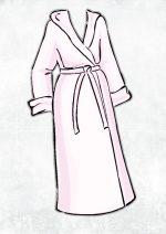 Oryginalny szlafrok z haftem